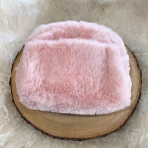 Other - Pink Faux Fur Cosmetic Bag